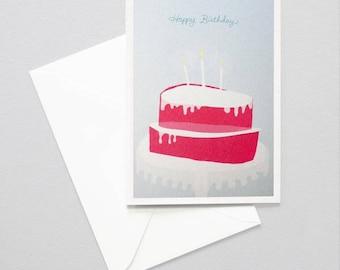 Greeting card - birthday cake
