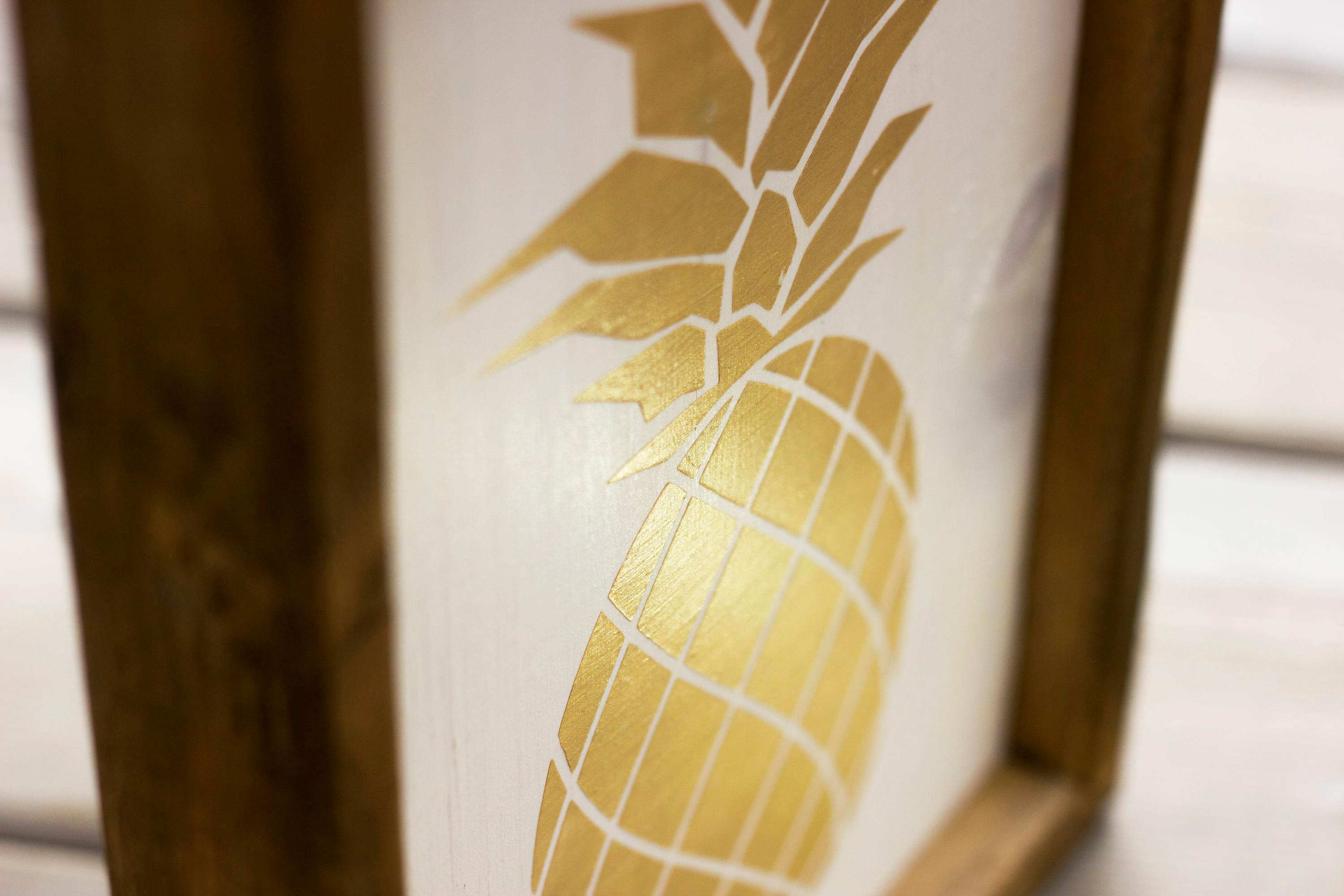 Gold Pineapple, Pineapple Wall Art, Pineapple Decor, Gold Pineapple ...