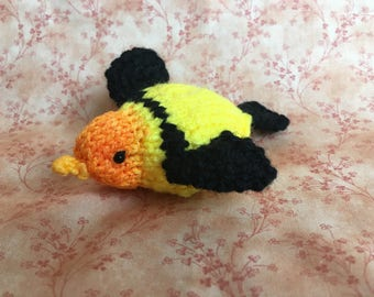 Knit Yellow Bird Ornament