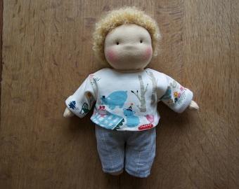CUSTOM - Waldorf Doll - Boy Doll - Curly Blond Haired Child Doll - Steiner Doll