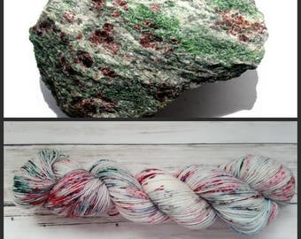 Hand Dyed Yarn, Merino, Nylon, Fingering Weight Speckled Sock Yarn Perfect for Socks, Shawls Other Lightweight Accessories - Eclogite