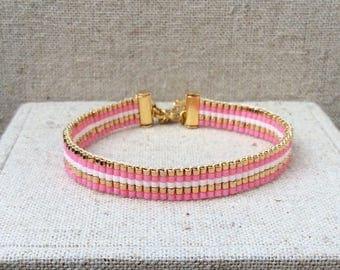 """Bracelet pink Lou """"candy"""""""