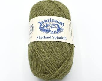 Natural Fiber Yarns - Shetland Wool - Destash Yarn - Yarn for Sale - Shetland Yarn - Knitting Yarn - Wool Yarn - Green Yarn - Knitting Wool