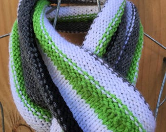 Agender Möbius Pride Flag Infinity Scarf Knitting Pattern