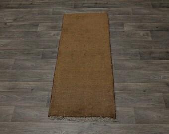 Narrow Runner Rare Color Wool Gabbeh Modern Persian Rug Oriental Area Carpet 2X5