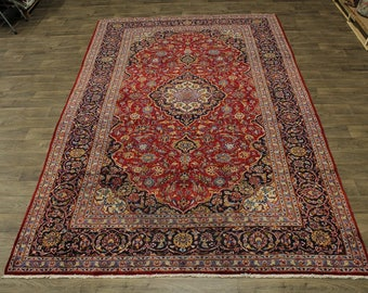 Nice Handmade S Antique Rare Size Kashan Persian Rug Oriental Area Carpet 8X13