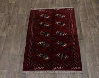Great Shape Hand Knotted Ghoochan Turkoman Persian Area Rug Oriental Carpet 3X5
