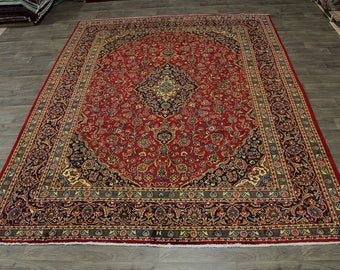 Gold Washed S Antique Handmade Kashan Persian Area Rug Oriental Carpet 10X13