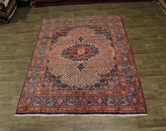 Dazzling Vintage Handmade Unique Moud Mood Persian Rug Oriental Area Carpet 7X10