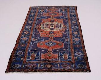 Foyer Size Handmade Tribal Mussel Hamedan Persian Rug Oriental Area Carpet 4X7