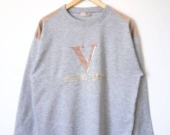 Valentino Valentino Christy Sport Paris Big Logo Spell Out Jumper Sweatshirt Large Size