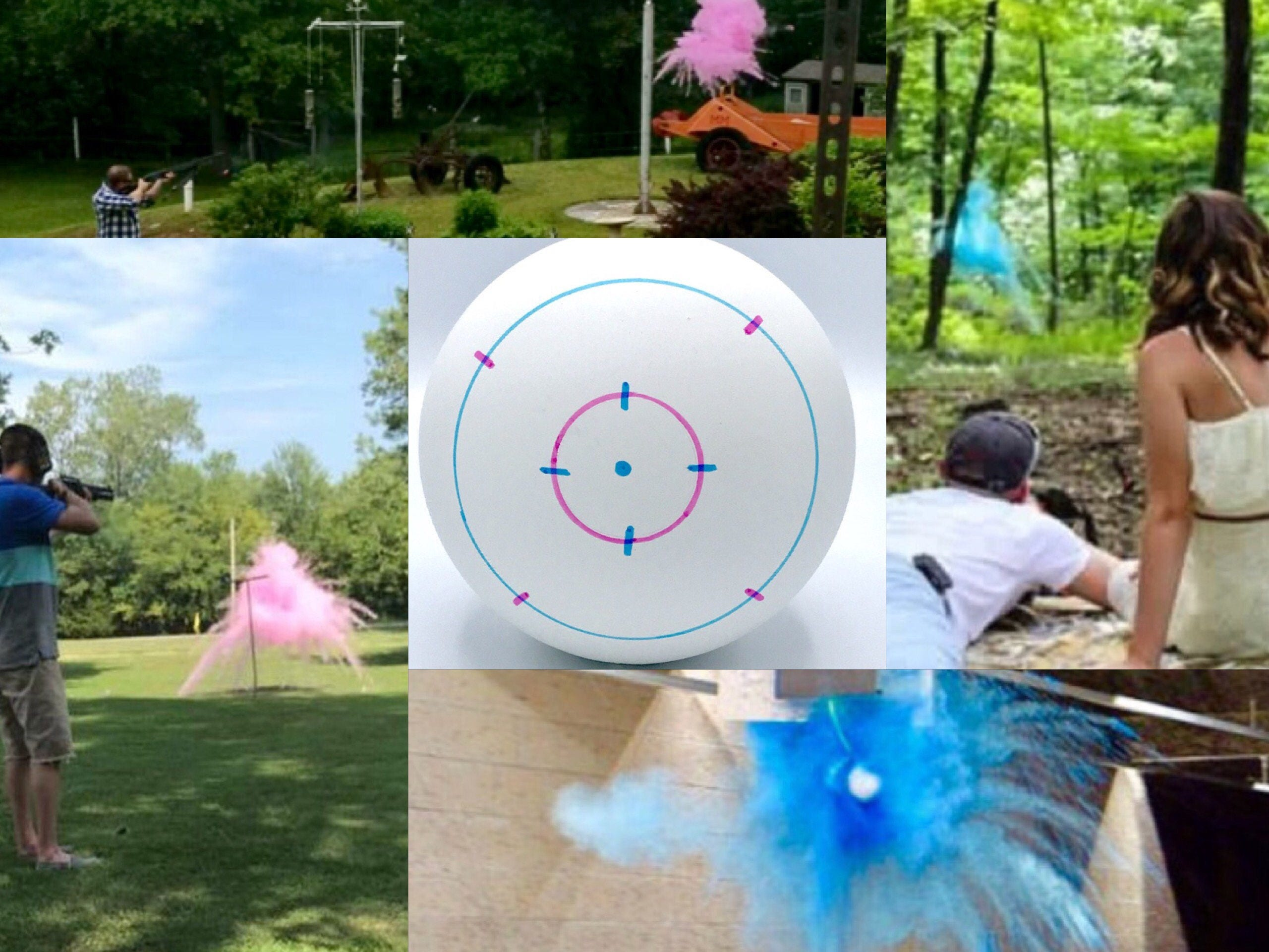 Color Powder Gender Reveal >> 4 SHOOTING TARGETS Gender Reveal Balls Pack (Custom Color ...