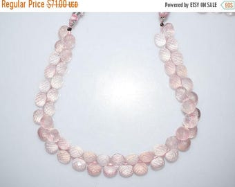 "50% OFF Natural Rose Quartz Faceted Onion Shape Beads - Rose Quartz Onion Shape Briolette , 7x7 - 8x8 mm , 9"" , BL996"
