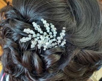 Swarovski crystal wedding hair pin Bridal Hair Pin Bridal Crystal Hair Pin Bridal Bead Hair Pin Bridesmaid Hair Pin Wedding Bobby Pins Vine