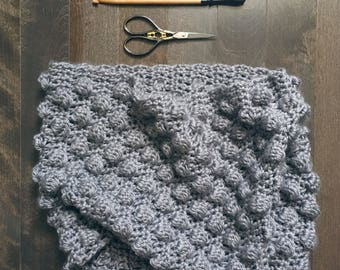 READY TO SHIP . bubble cowl . hand crocheted . vegan . super soft