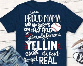 Baseball Mom svg, Baseball svg, Baseball Mama svg, baseball dxf, Proud Mama, eps, png, svg file, iron on, Baseball shirt svg, png, digital