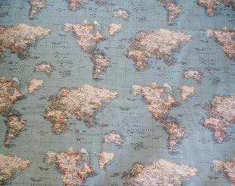 Map - blue background / Turquoise