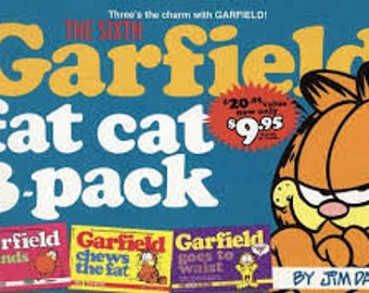 Garfield Fat Cat 3-Pack #6 by Jim Davis Rounds Out/chews the fat/goes to waist