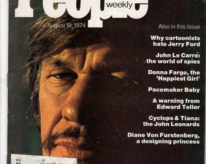 Charles Bronson People Magazine August 19, 1974 with label