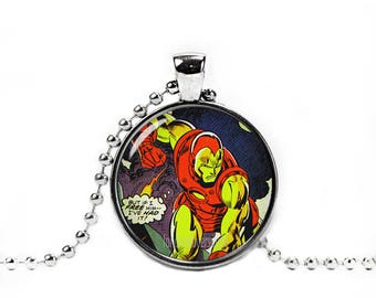 Iron Man Necklace Pendant Iron Man Necklace Fandom Jewelry Geeky Jewelry
