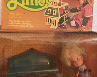 Vintage Hedi Little and her Sofa still in packaging!_The Littles
