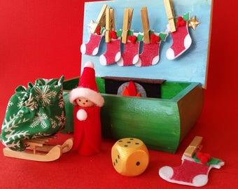 Christmas in a Box. Activity Box.  Unique and only one available. Personalised Gift tag and gift wrap included.