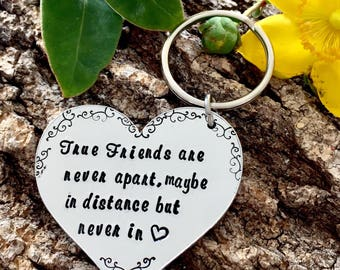 True Friends, Leaving Gift, Best Friend Gift, Best Friends, Travelling Gift, Gift for a Friend, Gift for Her, Forever Friends, Hand stamped