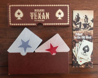 Vintage Marlboro Texan Poker Cards