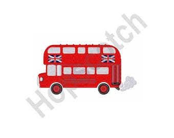 London Bus - Machine Embroidery Design