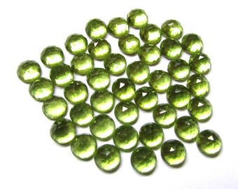 25 pieces 3mm Rose cut PERIDOT Round Rose Cut Cabochon gemstone AAA++ Quality 100% Natural 3mm peridot rose faceted cabochon calibrated gems