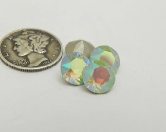 Swarovski 1088 Chrysolite Opal and Effects 39ss Chaton Rhinestones (6 pieces)