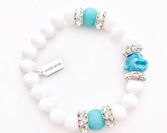 Happy Buddha with Rihinestones Bracelet
