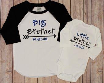 Big Brother shirt, little brother shirt, Big Brother Little brother shirt set. Big Brother,Big Brother, Little Sister, Big Bro