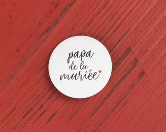 Wedding father of the bride badge