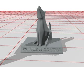 3D Printed Game of Thrones House Stark 'Winter is Coming' Sigil by 3D Cauldron