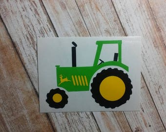 Tractor /Tractor Decal/Tractor Sticker/ Agricultural Decal/ Farm Machinery Decal/JD Tractor/Tractor/Farm Life/Plow/Heavy Machinery