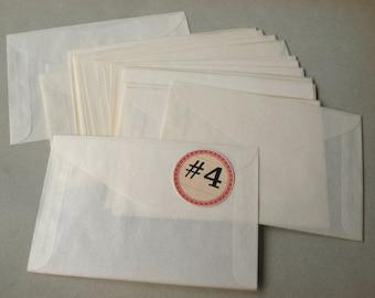 Vintage Glassine Envelopes Size 4 Translucent Paper Unused (25)