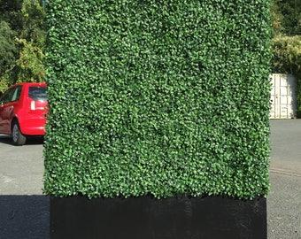 Instant Artificial Hedge 1m x 1m with 35cm Planter