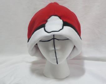 Pokemon Fleece Pokeball Hat