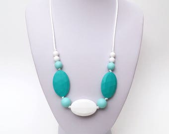 Agate - Food grade silicone teething necklace