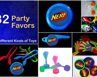 Nerf - 32 Party Favors Combo -Toys Birthday Prizes Pinata grab bag loot supplies