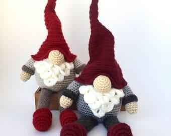 Crochet Amigurumi Pattern: Christmas gnome