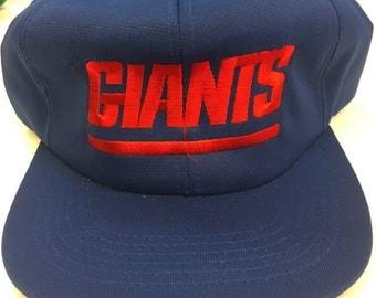 Vintage New York Giants NFL Football Ted Fletcher Snapback Hat