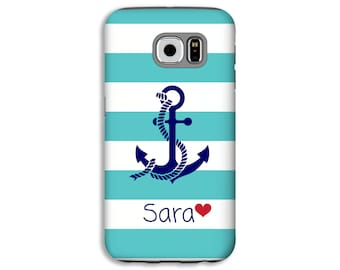 Nautical Samsung Galaxy S8 case, anchor Galaxy S7 Edge case, Galaxy A5 case, nautical A3 case, Galaxy A3 case, custom phone case