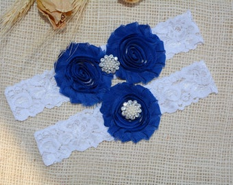 Wedding Garter Blue, Garter Set, Blue Bridal Clothing, Somethig Blue, Garter For Wedding, Garter For Brides, BlueGarter, Royal Blue Garter