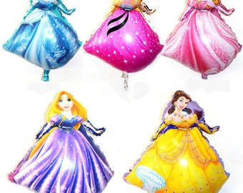 new 5pcs-lots of new princess aluminum balloons party balloons wholesale children's toys