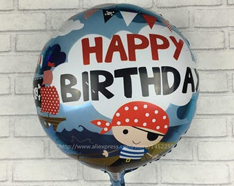 aluminum balloons 5pcs-lots pirate boy birthday party children's toys wholesale balloons decorated and furnished