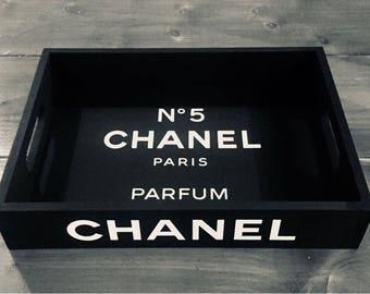 Chanel No5 Paris Parfum wooden tray