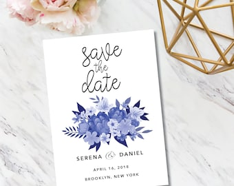 Save the Date // Watercolor Floral // Invitation // Beautiful // Elegant // Glamour // Boho // Minimal // Classy // Chic