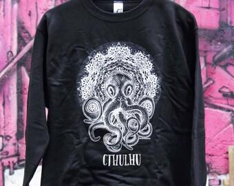 Cthulhu - Mandala - Black Hoodie